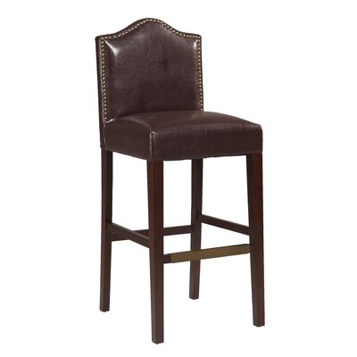 Theia 30 Bar Stool Upholstery: Blackberry