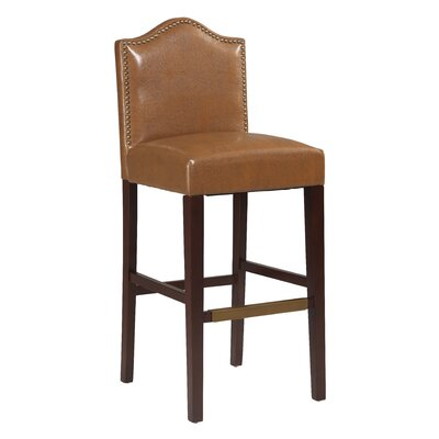 Theia 30 Bar Stool Upholstery: Russet