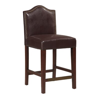 Theia 24 Bar Stool Upholstery: Blackberry