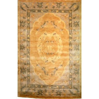 Yasmina Gold Area Rug Rug Size: 4 x 6