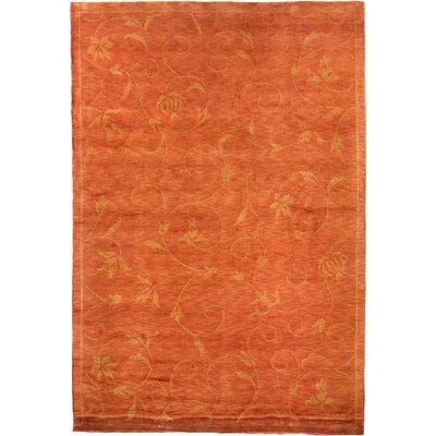Yasmina Tibetan Orange Area Rug Rug Size: 6 x 9
