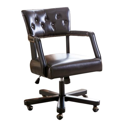 Yazmin Leather Desk Chair
