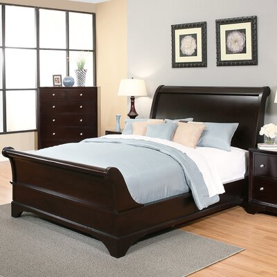 Stephenson Queen Sleigh 4 Piece Bedroom Set