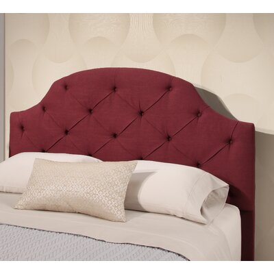 Ana Tufted Linen Panel Headboard Upholstery: Wine