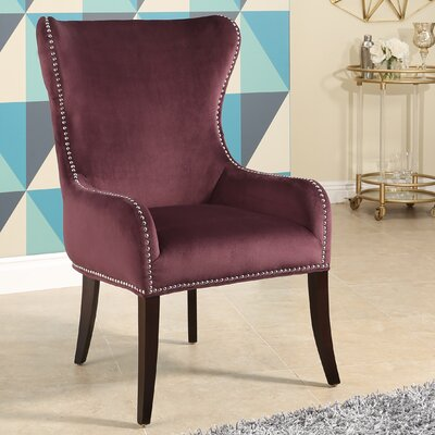 Alan Wingback Chair Upholstery: Purple