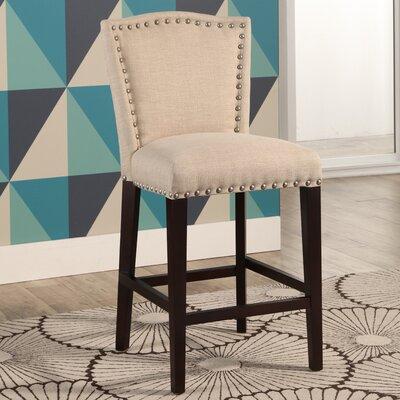 Charlene 26 Bar Stool Upholstery: Ivory