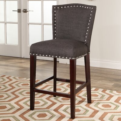 Charlene 26 Bar Stool Upholstery: Charcoal Gray