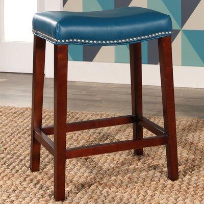 Melinda Bar Stool Upholstery: Turquoise