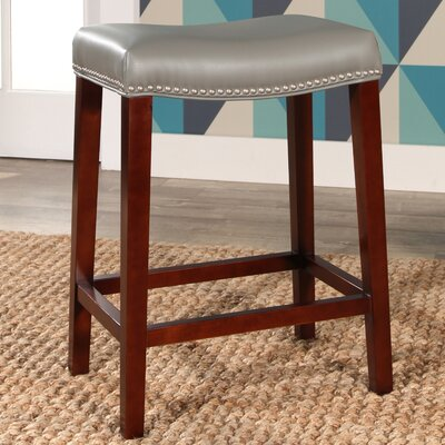 Melinda Bar Stool Upholstery: Gray