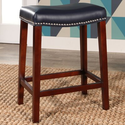 Melinda Bar Stool Upholstery: Navy