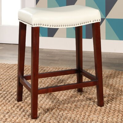 Melinda Bar Stool Upholstery: White