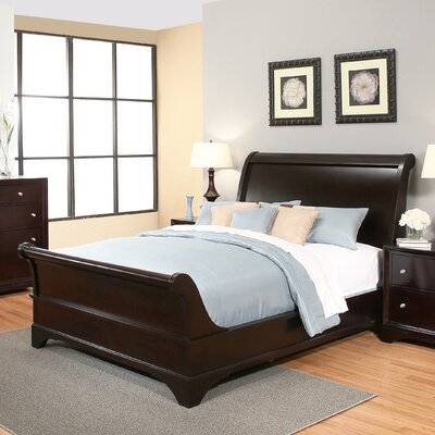 Stephenson Sleigh 5 Piece Bedroom Set Size: King