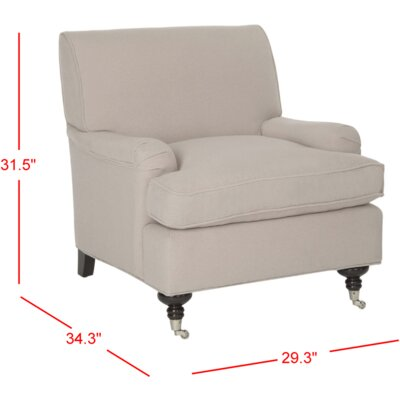 Chloe Arm Chair Upholstery: Taupe