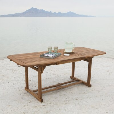 Widmer Extendable Dining Table Finish: Brown