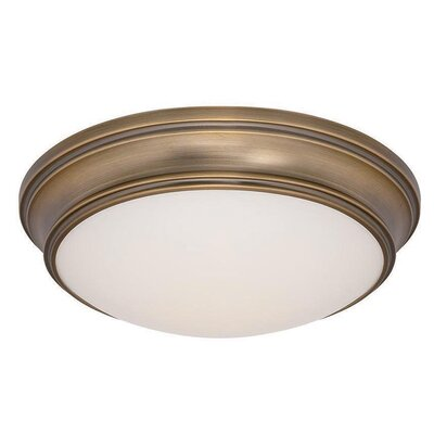 Margaret 1 Light Flush Mount Finish: Burnished Brass
