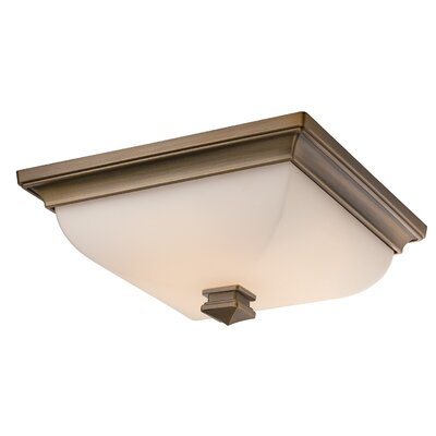 Bunting 1 Light Flush Mount Finish: Burnished Brass