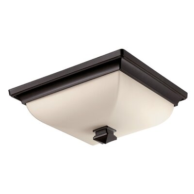 Bunting 1 Light Flush Mount Finish: Brushed Bronze