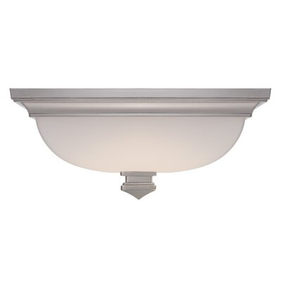 Bunting 1 Light Flush Mount Finish: Polished Nickel