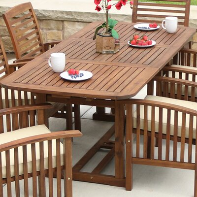Widmer Extendable Dining Table Finish: Dark Brown