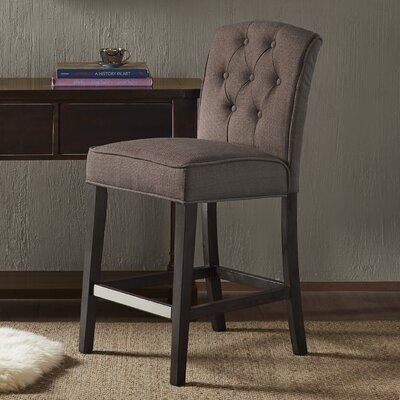 Cayman 40 Bar Stool Upholstery: Brown