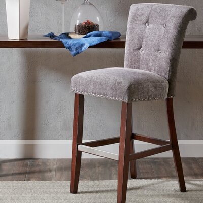 Olivier 30 Bar Stool Upholstery: Gray