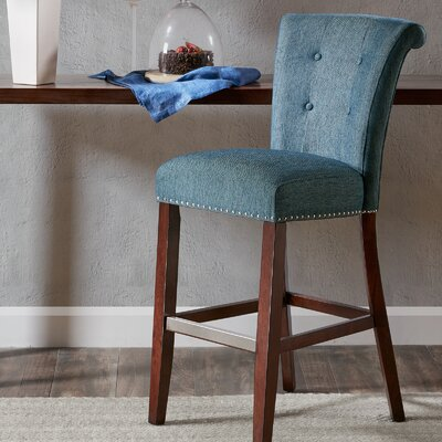 Olivier 30 Bar Stool Upholstery: Blue