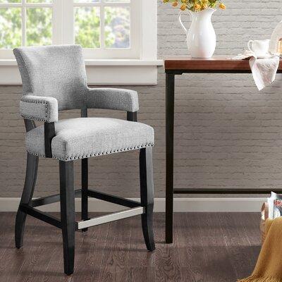 Gilberton Bar Stool Upholstery: Gray