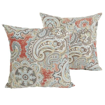 Lebaron Paisley Indoor/Outdoor Throw Pillow