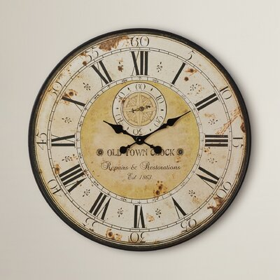 """Oversized 31"""" Round Metal Wall Clock OAWY2436 26880563"""