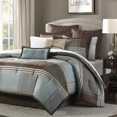 Frances 8 Piece Reversible Comforter Set Size: California King
