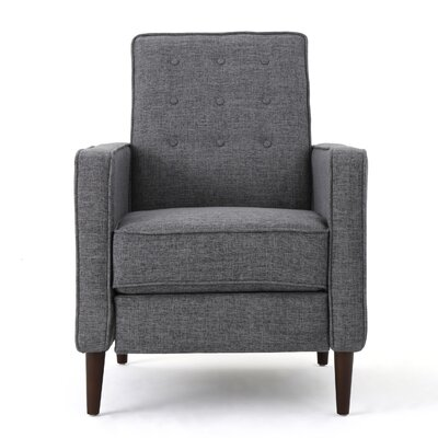 Diane Fabric Recliner Upholstery: Gray