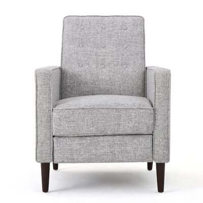 Diane Fabric Recliner Upholstery: Light Gray
