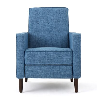 Diane Fabric Recliner Upholstery: Muted Blue