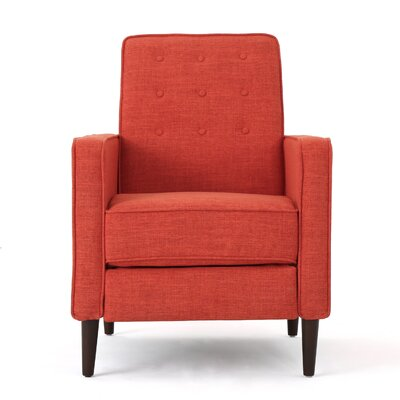 Diane Fabric Recliner Upholstery: Muted Orange