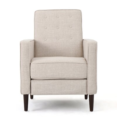 Diane Fabric Recliner Upholstery: Cream