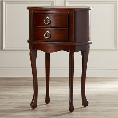 Evelyn End Table Color: Plantation Cherry