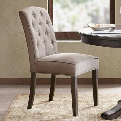 Lewin Tufted Side Chair Upholstery: Grey