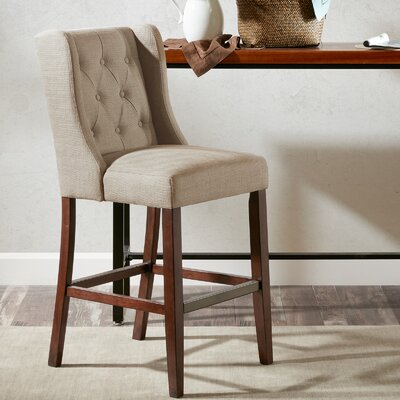 Maxwell 30 inch Bar Stool Upholstery: Cream