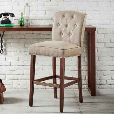 Cayman 30 Bar Stool Upholstery: Tan