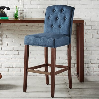 Cayman 30 Bar Stool Upholstery: Navy