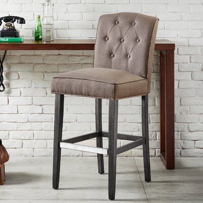Cayman 30 Bar Stool Upholstery: Gray