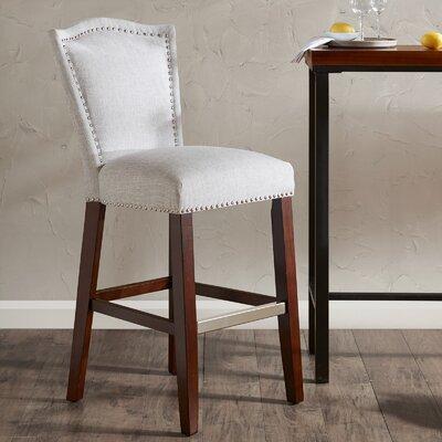 Newville 30 Bar Stool Upholstery: Gray