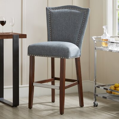Newville 30 Bar Stool Upholstery: Blue