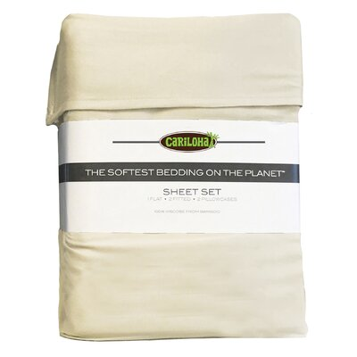 Debbie Classic Bamboo Rayon Sheet Set Color: Ivory, Size: King