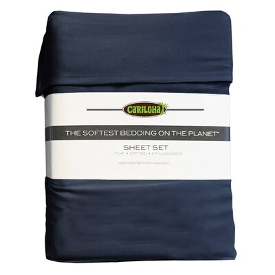 Debbie Classic Bamboo Rayon Sheet Set Size: Queen, Color: Bahama Blue