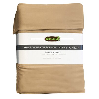 Debbie Classic Bamboo Rayon Sheet Set Color: Sandy Shore, Size: King