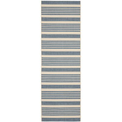 Bellingdon Blue/Beige Indoor/Outdoor Area Rug Rug Size: Runner 23 x 12