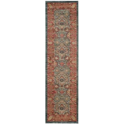 Alto Red/Blue Area Rug Rug Size: Runner 22 x 8