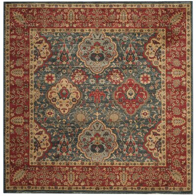 Alto Red/Blue Area Rug Rug Size: Square 67