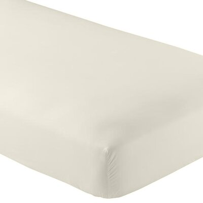 Valerie 618 Thread Count Fitted Sheet Color: Ivory, Size: Queen